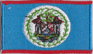 Belize Embroidered Flag Patch, style 04